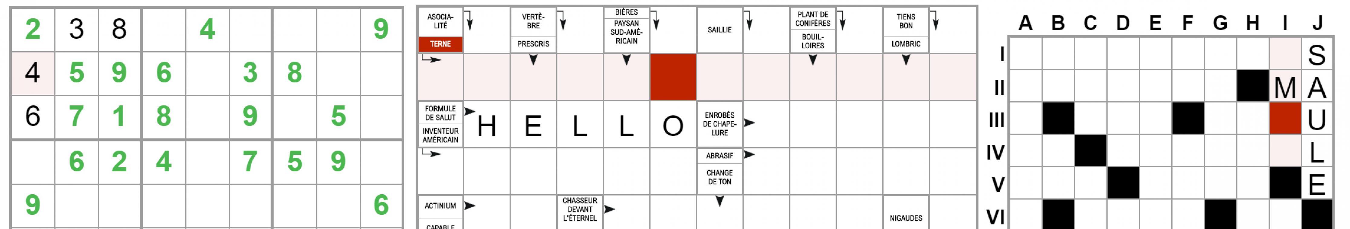 (TERMINE) Mots-croisés, Sudoku, Mots fléchés, retrouvez vos jeux préférés !