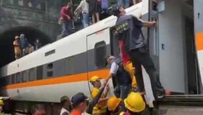 Taïwan: au moins 48 morts lors du déraillement d'un train