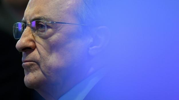 Le président du Real Madrid Florentino Perez, le 2 avril 2019 au stade Santiago-Bernabeu