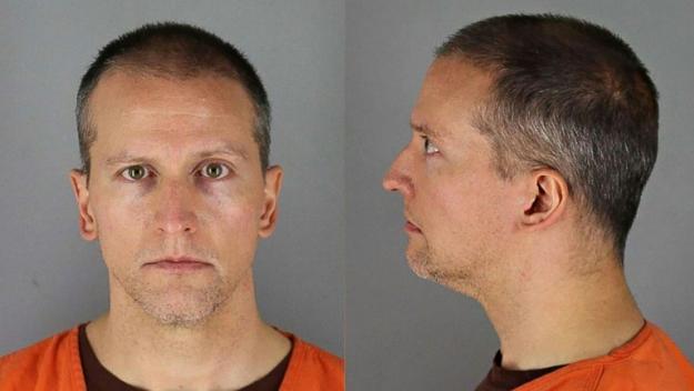 L'ancien policier américain Derek Chauvin, le 31 mai 2020,  sur un portrait publié par la prison du comté de Hennepin