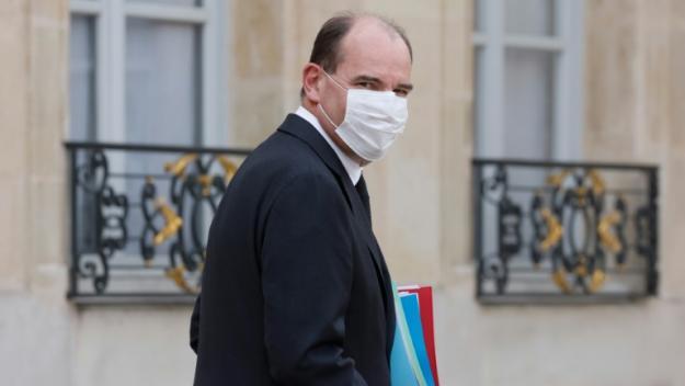 Le Premier ministre Jean Castex à la sortie du Conseil des ministres le 21 avril 2021