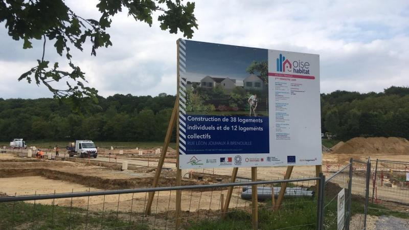 Le site en construction où sera implanté le nouveau lotissement financé avec l'aide de la Banque européenne d'investissement (BEI).