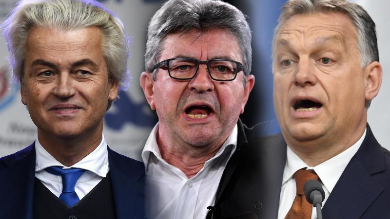 De Geert Wilders aux Pays-Bas à Viktor Orban en Hongrie, en passant par Jean-Luc Mélenchon en France : quelques visages divers de l'euroscepticisme au sein de l'Union européenne.