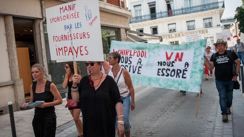 Les salariés de WN ont manifesté au début de l'été avant l'annonce de la liquidation judiciaire courant juillet.
