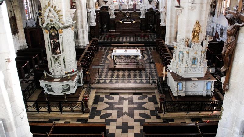 L'intérieur de l'église Saint-Antoine de Conty dévoilé ce lundi 1er mars avant les travaux de réhabilitation de l'édifice.