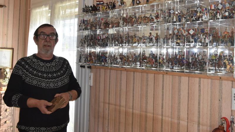 Jean-Pierre Lemaître est fier de ses 400 figurines en plomb