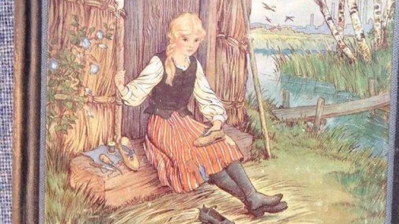 «Adventures of Perrine», traduction anglaise de «En famille» par Gil Meynier, 1933 ; illustration de Milo Winter.