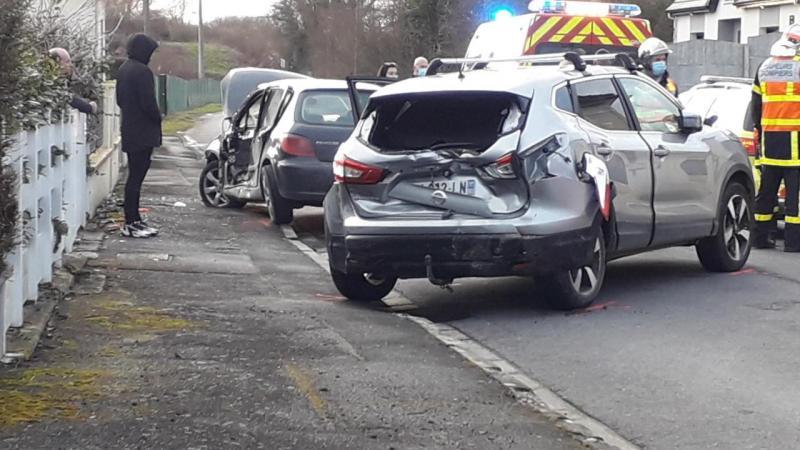 L'accident a fait un blessé grave.
