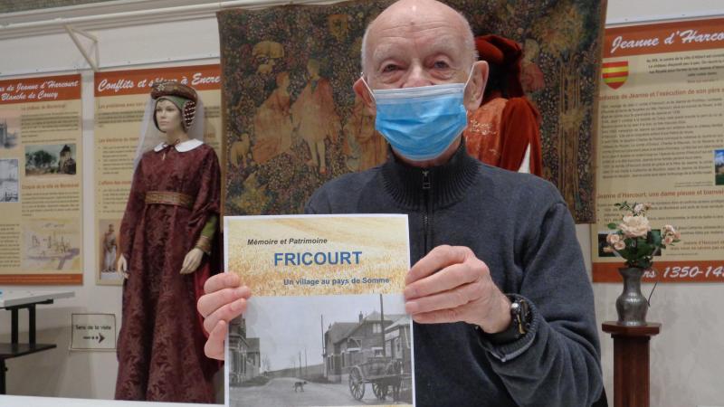 Roger Routier s'intéresse au patrimoine et à l'histoire de Fricourt.