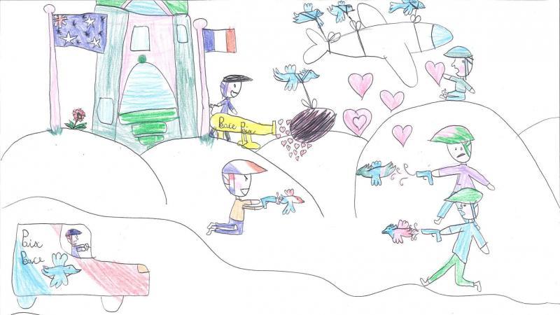 Capucine, 9 ans, originaire de Bonnay, a réalisé ce dessin dans le cadre de l'opération proposée par l'office de tourisme du Val de Somme.