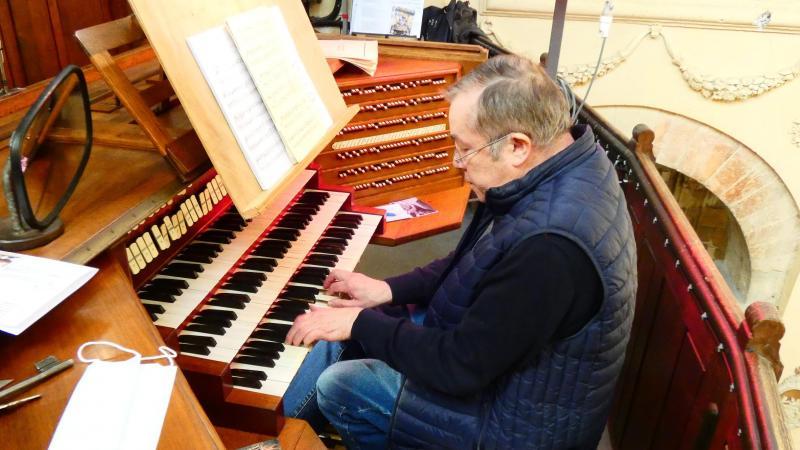 Patrick Delarue, organiste et président de l'association Les Amis de l'orgue de Ham.