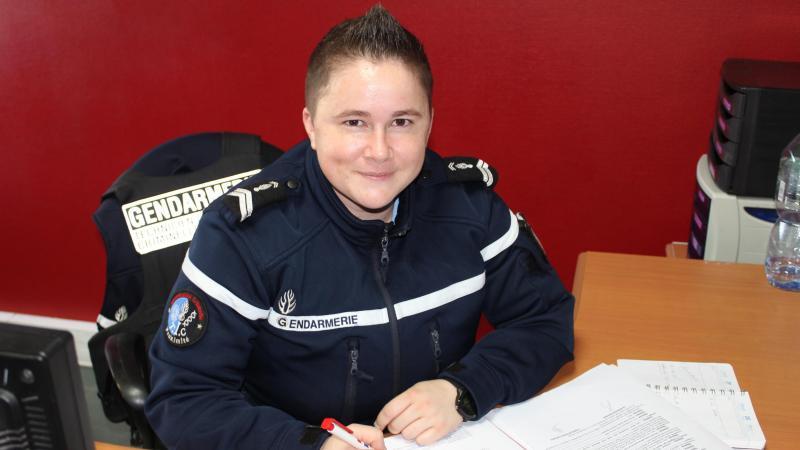 Mélissa Sarriau, la toute dernière gendarme arrivée à Villers-Bocage.