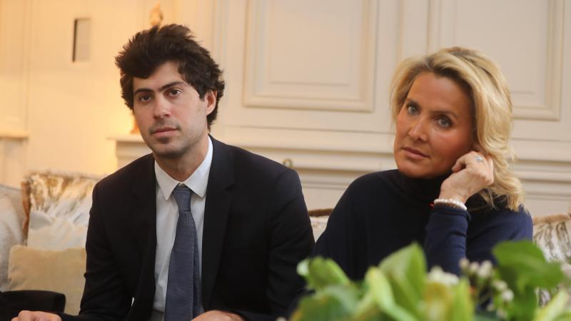 Victor Habert-Dassault, ici avec tante Natacha, veuve d'Olivier Dassault.