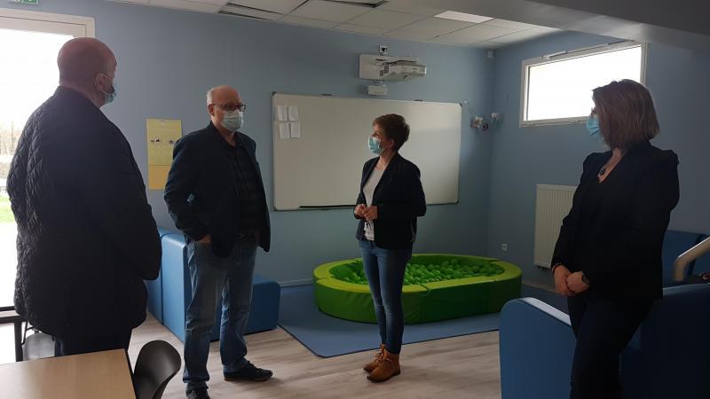 Stéphane Haussoulier, président du département de la Somme, a visité l'Unité d'Accueil Temporaire Innovante (UATI) à Belloy-sur-Somme.