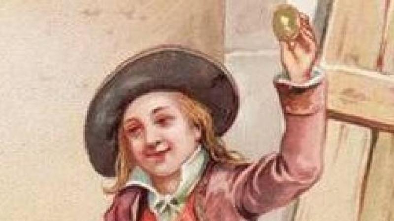 Pierre Aux-Œufsest un paysan naïf, ici le fermier de la Poule aux œufs d'or.