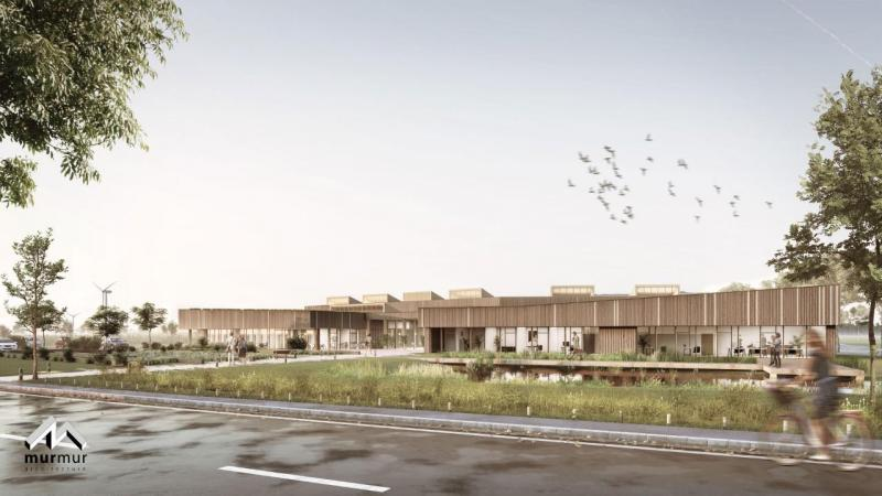 L'espace extérieur, ouvert et paysager contribuera à la mise en valeur du secteur 1 et il constituera le parvis du bâtiment.