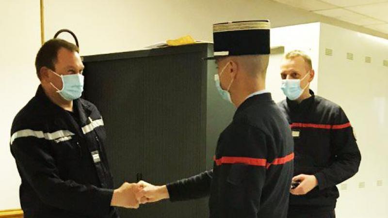 Patrick Boulongne est promu officier.