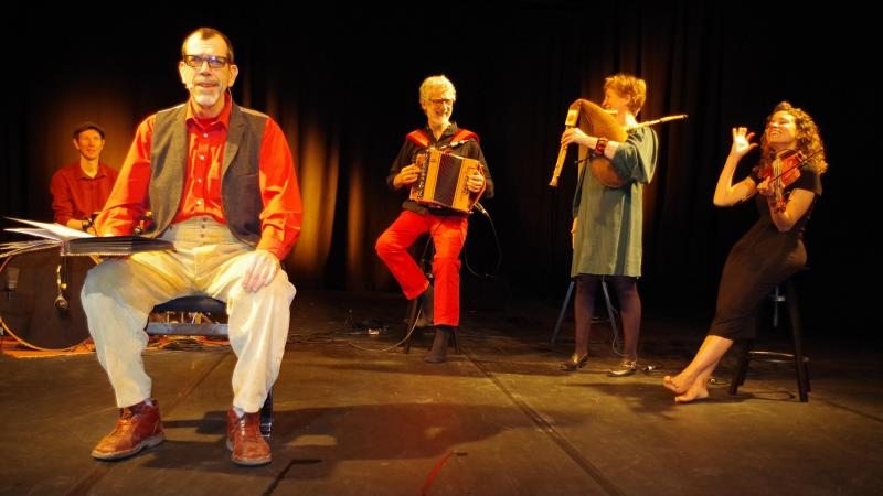 La compagnie Amuséon a enregistré un spectacle au studio-théâtre de l'abbaye.