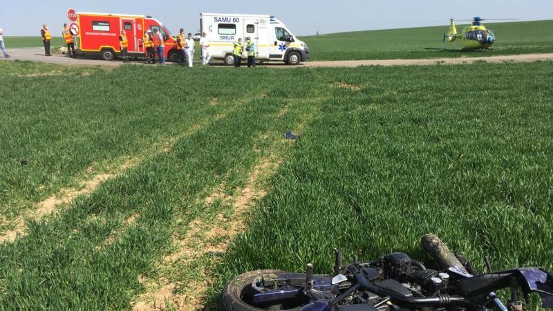 La moto a été retrouvée à une dizaine de mètres de l'accident.