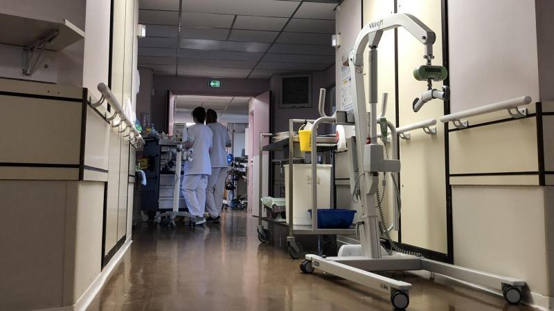 Ce mercredi, dans le service pneumologie de l'hôpital de Beauvais, où Philippe est revenu.