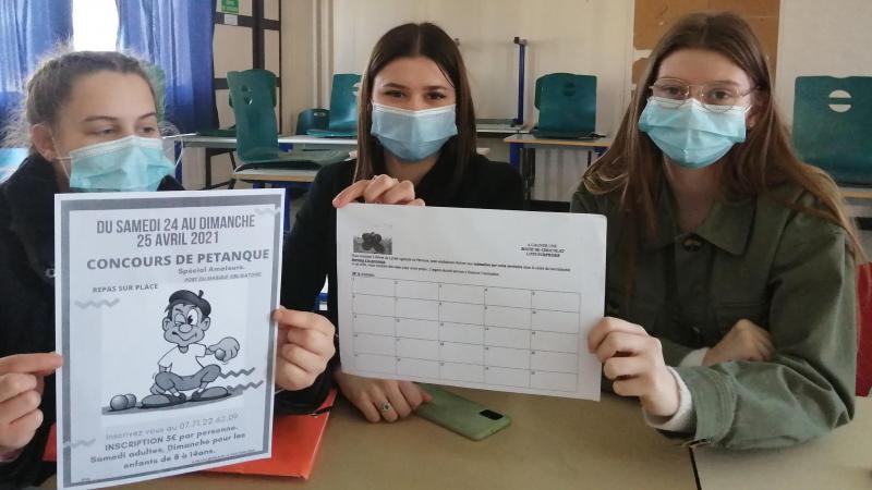 Les lycéennes préparent tout depuis octobre.
