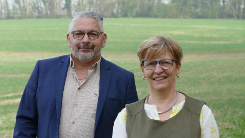Wilfried Larcher et Josiane Hérouart constituent le binôme de gauche pour le canton de Roye.