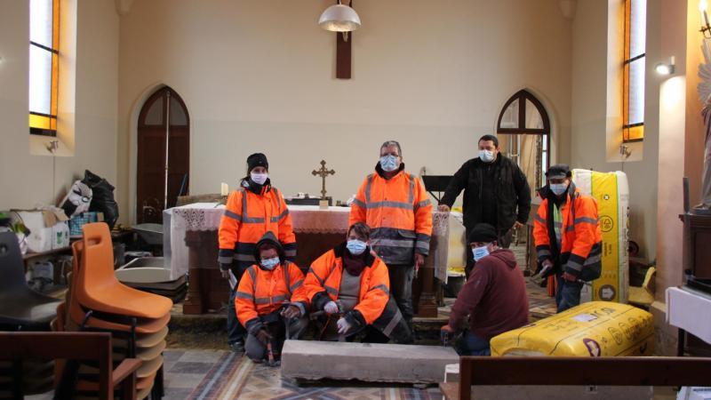 Une partie des salariés intervenus sur le chantier.