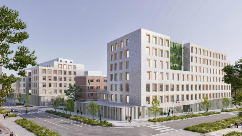 Les 20 000 m² de la future Cité, répartis en trois bâtiments, vont s'intégrer dans le quartier Gare – La Vallée.