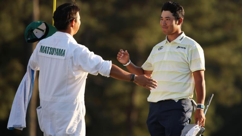 Le premier japonais à décrocher une première place dans un tournoi du Grand Chelem de golf.