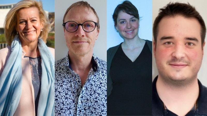 De g. à d.: Valérie Kumm, Christophe Boulogne, Justine Polin et Florian Slozarczyk.
