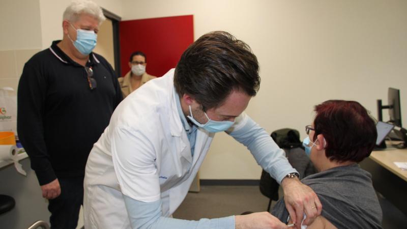 Les anciens de Montigny ont profité de la première vague de vaccinations au centre de Bohain.