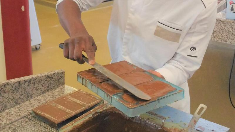 Les tablettes ont été fabriquées par une petite vingtaine d'apprentis de la Chambre des métiers et de l'artisanat.