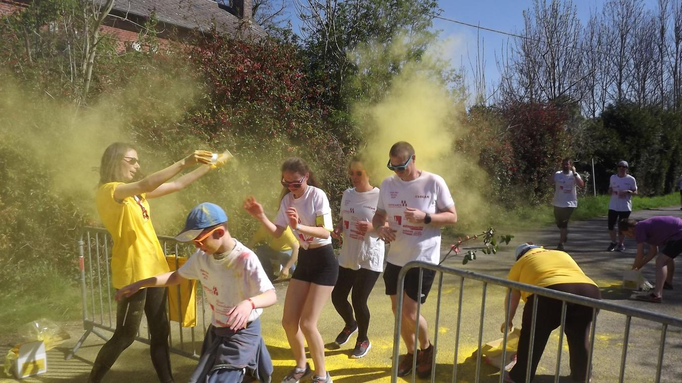 La «color run» de Vervins