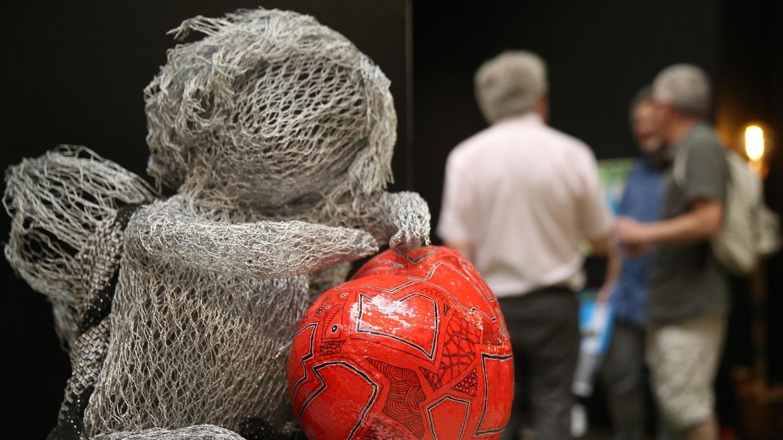 Sculpture Grillage A Poule c'est reparti pour la biennale des arts à saint-quentin