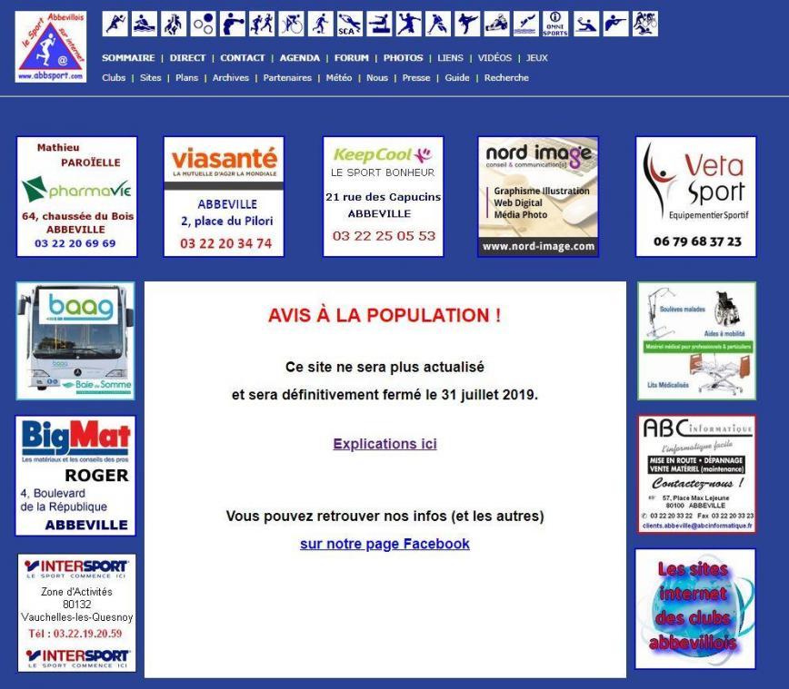 Le site internet abbsport c est fini courrier picard for Le site internet