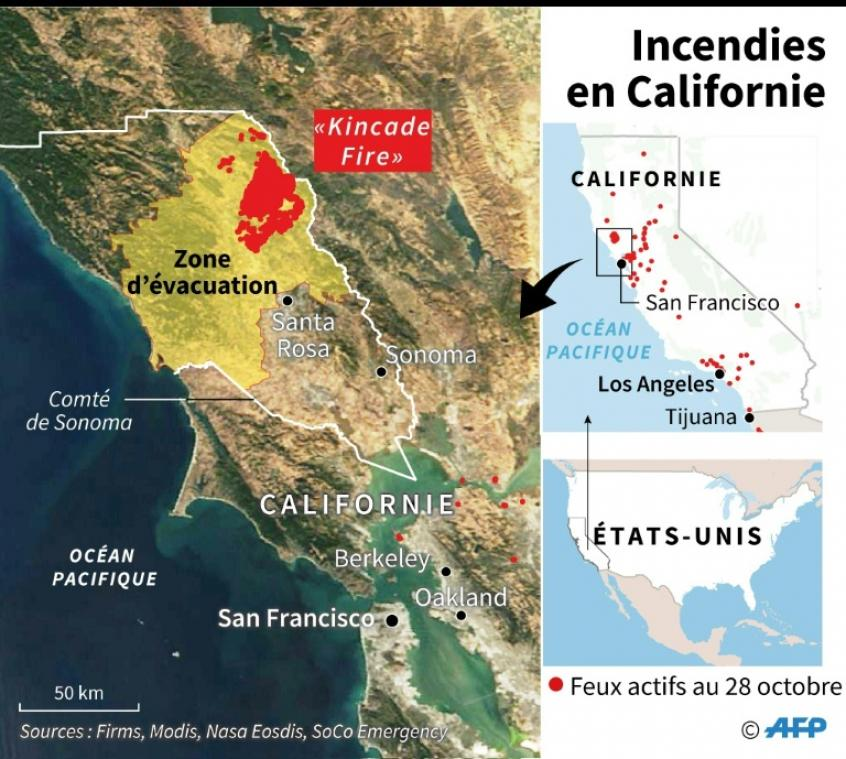 carte des incendies en californie aujourd hui Incendies en Californie: les quartiers chics de Los Angeles touchés