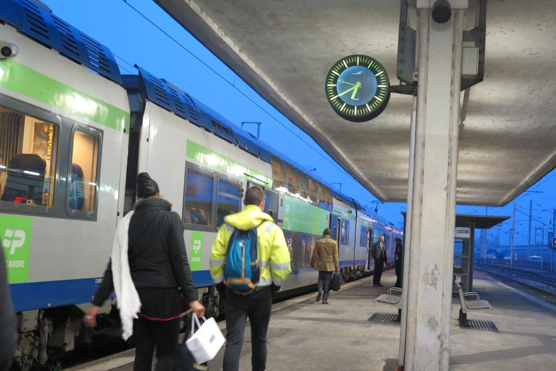 TRANSPORTS : Un week-end perturbé en gare de Montdidier - Courrier picard