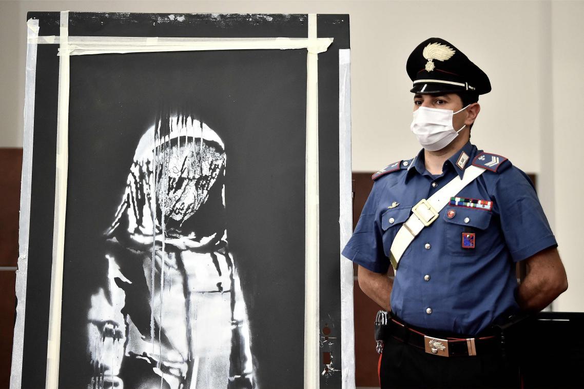 France-Six arrestations après le vol d'une oeuvre de Banksy-sce