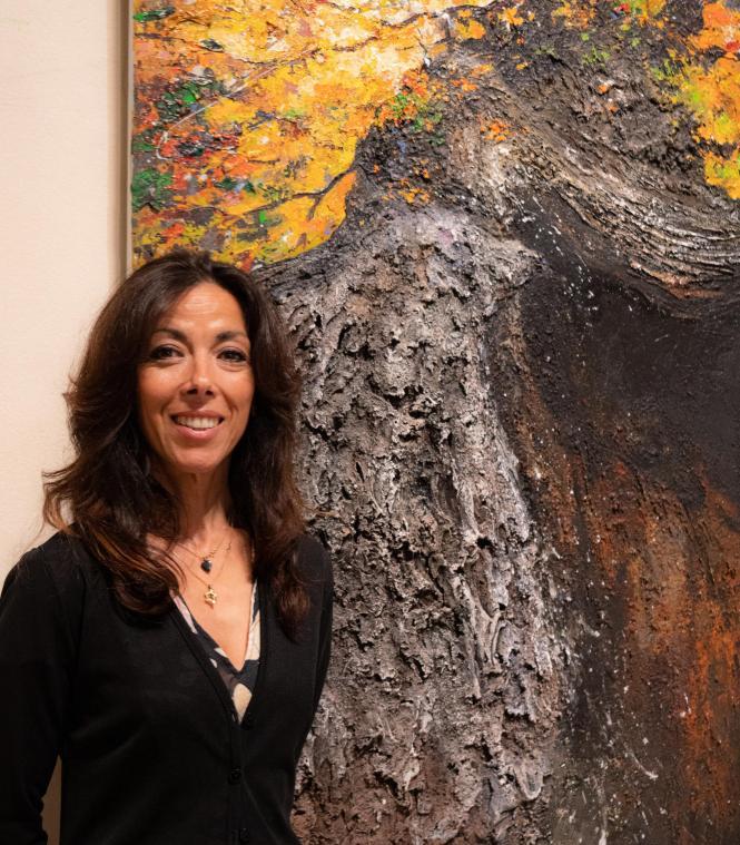 Elle peint les arbres remarquables du Compiégnois