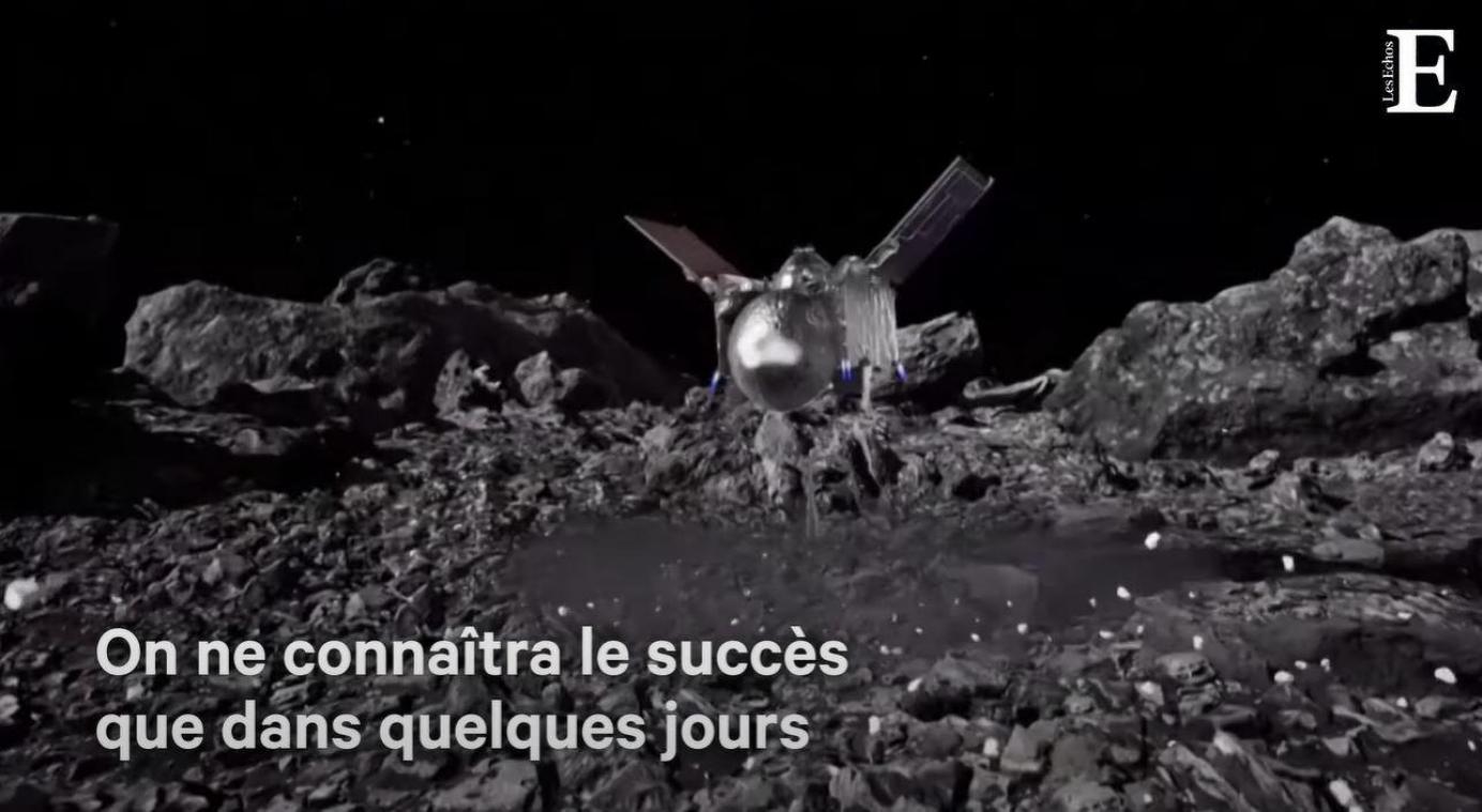 ESPACE : Une sonde collecte avec succès des échantillons d'un astéroïde