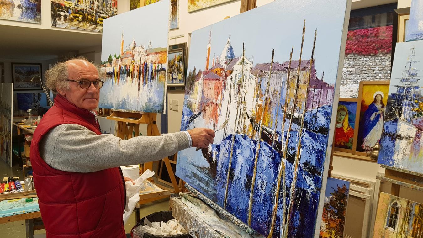 L'artiste peintre Célestin Messaggio a fait don de vitraux à l'église de  Saint-Pierre-d'Autils