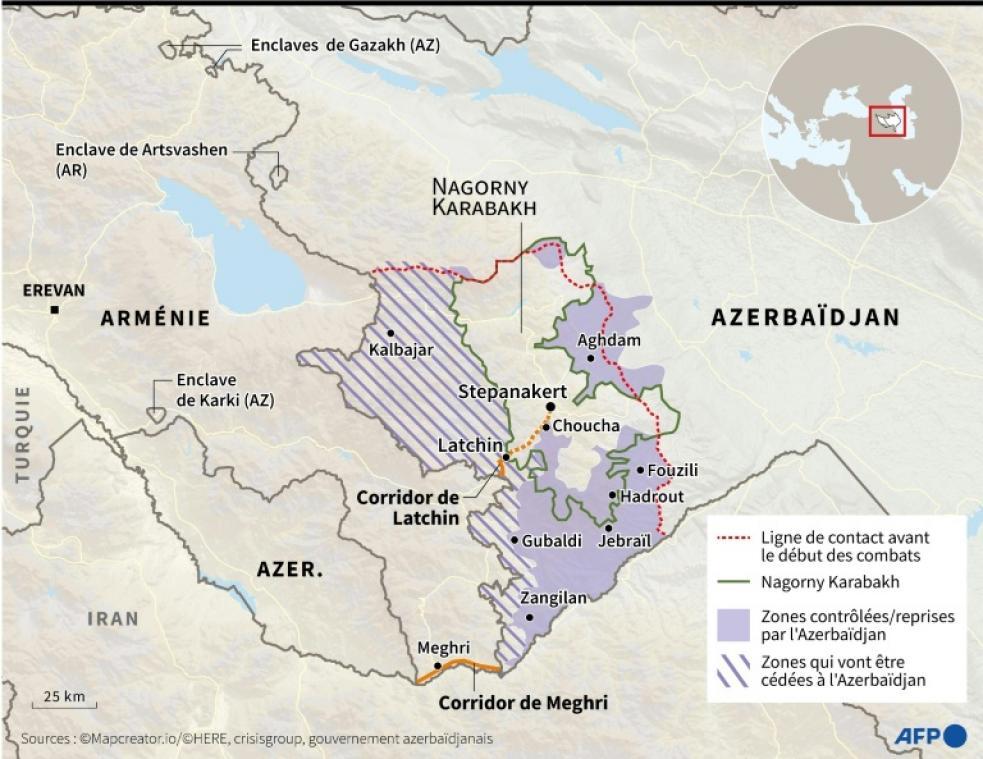 Conflit du Nagorny Karabakh: l'Azerbaïdjan reprend Aghdam aux Arméniens