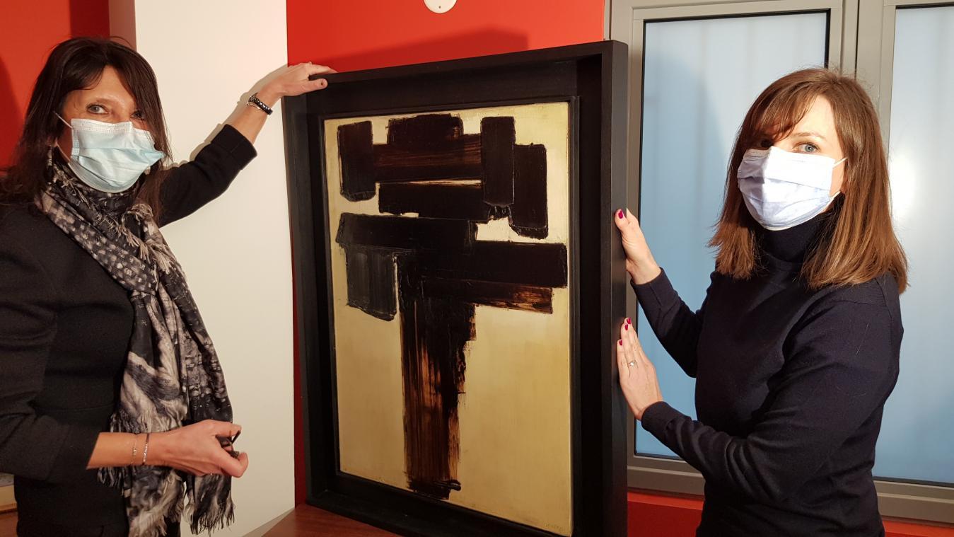 VIDÉO. Un tableau de Pierre Soulages ayant appartenu à Léopold Sédar Senghor est en vente à Caen
