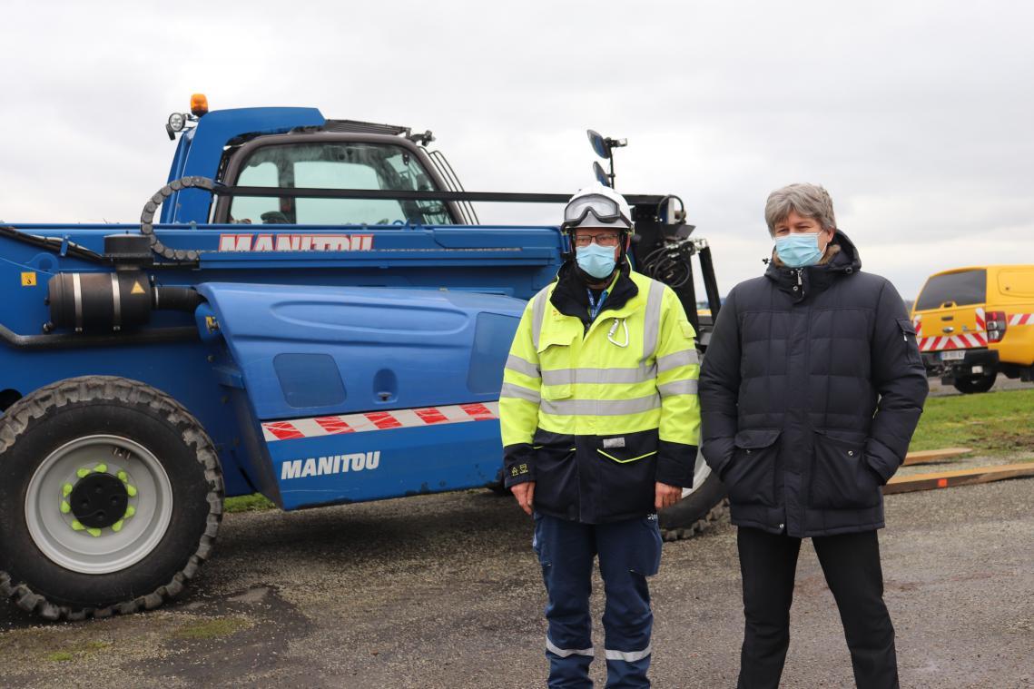 Pierre Eymond et Jean-Marie Boursier au cœur de l'opération Farn, pour sécuriser au maximum la centrale nucléaire de Paluel. (Photos PN)