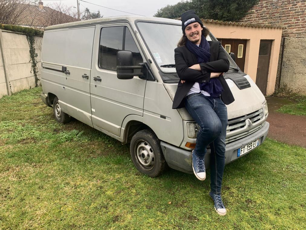 À Gaillon, Dimitri Soulivet va recréer l'iconique van The Mystery machine de Scoubidou