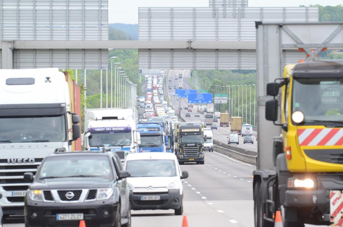 Le contournement est de Rouen est censé désengorger le trafic routier saturé vers Rouen. (Archives Paris-Normandie)