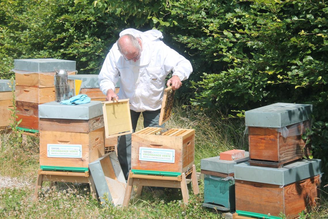 Michel Jouen est apiculteur depuis plus de quinze ans. (Photo CCYN)