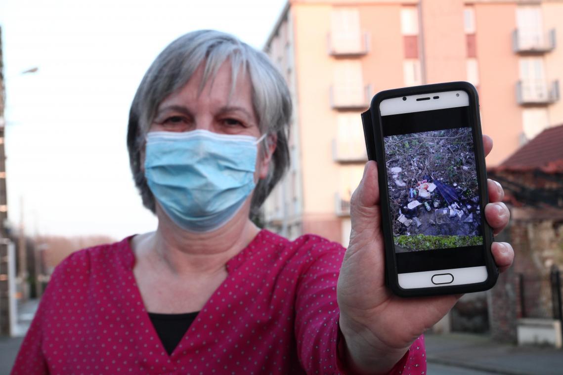 Monique Leroy a photographié les points qui seront ciblés pour ce nettoyage de printemps.