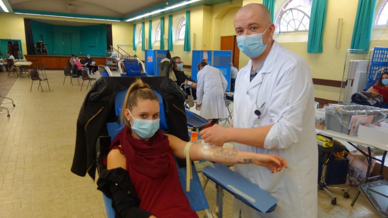 Marlène Jasiak, donnait son sang pour la deuxième fois.