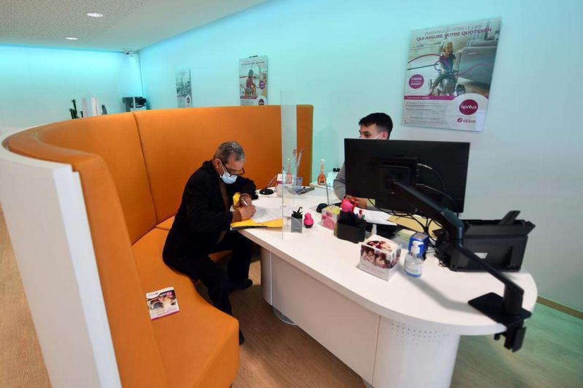 L'ancienne agence Apréva à Lille. La mutuelle est intégrée à un nouveau groupe Aésio.